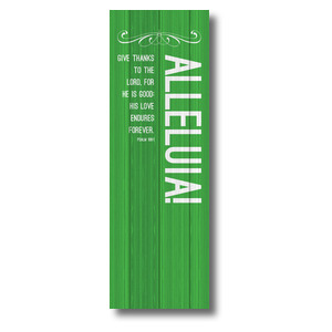Painted Wood Alleluia 2' x 6' Banner