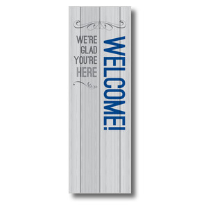 Painted Wood Welcome 2' x 6' Banner