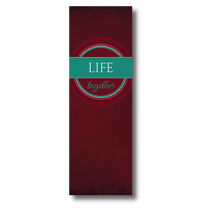 Together Circles Life 2' x 6' Banner