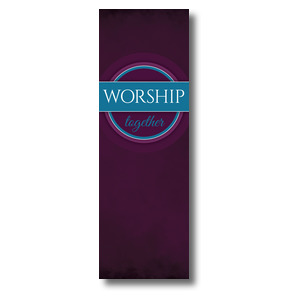 Together Circles Worship 2' x 6' Banner