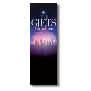 The Gifts of Christmas Advent 2' x 6' Banner