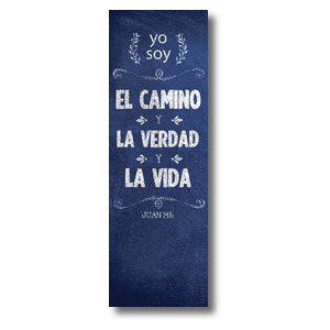 Chalkboard Art Blue Spanish Banners