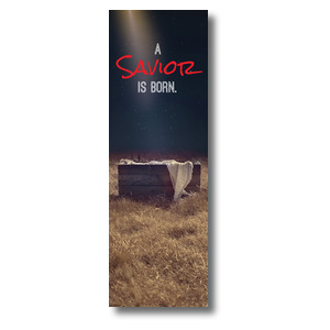 Savior Born 2' x 6' Banner