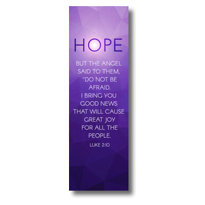 Advent Luke 2 Hope 2' x 6' Banner