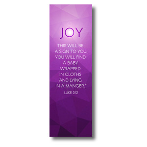 Advent Luke 2 Joy 2' x 6' Banner