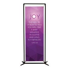 Advent Luke 2 Joy Banner