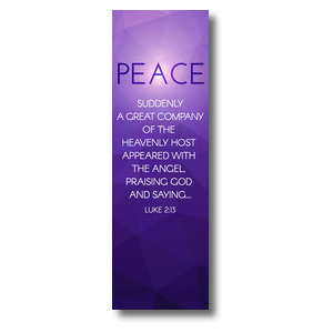 Advent Luke 2 Peace 2' x 6' Banner