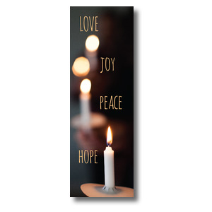 Candle Advent Words 2' x 6' Banner