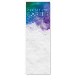Celebrate Watercolor Easter 2' x 6' Banner