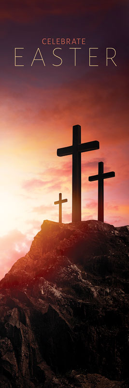 Easter Crosses Hilltop Banner - Church Banners - Outreach ...
