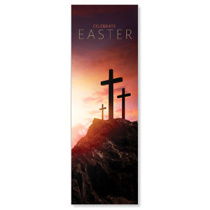 Easter Crosses Hilltop 2' x 6' Banner