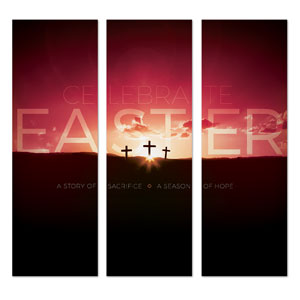 Celebrate Easter Crosses 2' x 6' Banner