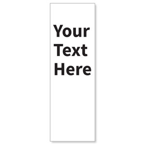 Your Text Here Black 2' x 6' Banner