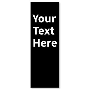 Your Text Here White 2' x 6' Banner
