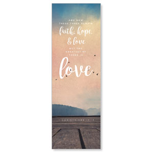 Photo Scriptures 1 Cor 13:13 2' x 6' Banner