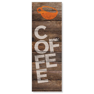 Shiplap Coffee Natural 2' x 6' Banner