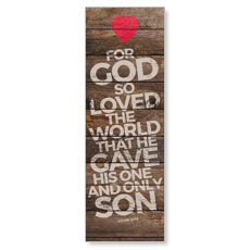 Shiplap John 3:16 Natural Banner