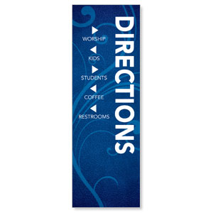 Flourish Directional Banners