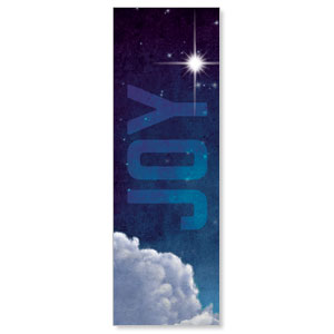 Joy Clouds 2' x 6' Banner