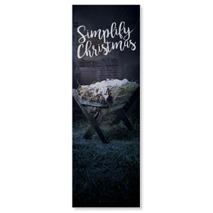 Simplify Christmas Manger 2' x 6' Banner