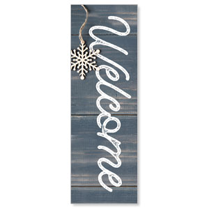 Wood Ornaments Welcome 2' x 6' Banner