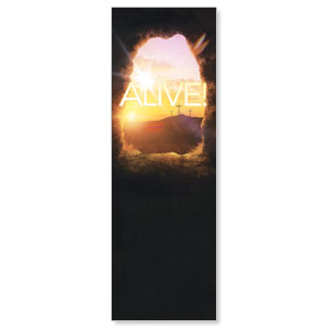 Alive Sunrise Tomb 2' x 6' Banner