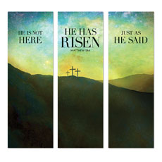 He Has Risen Matt 28:6 Banner
