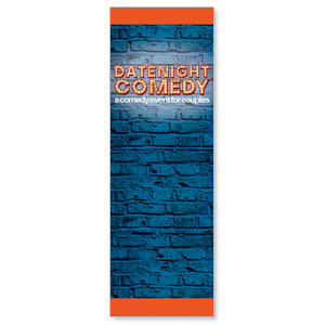 Date Night Comedy 2' x 6' Banner