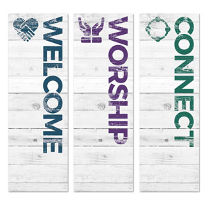 Shiplap White Core Set 2' x 6' Banner