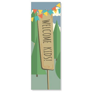 Woodland Friends Welcome 2' x 6' Banner