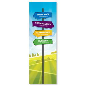 Bright Meadow Directional 2' x 6' Banner
