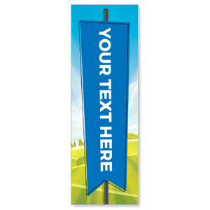 Bright Meadow Your Text Here 2' x 6' Banner
