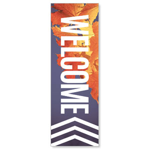 Chevron Welcome Fall 2' x 6' Banner