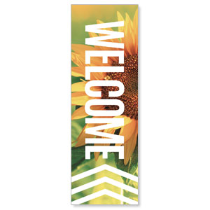 Chevron Welcome Summer 2' x 6' Banner