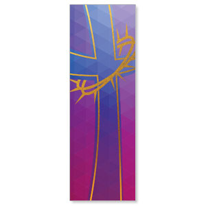 Bold Iconography Purple Cross 2' x 6' Banner