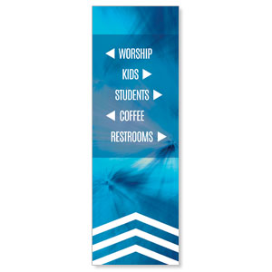 Chevron Welcome Blue Directional 2' x 6' Banner