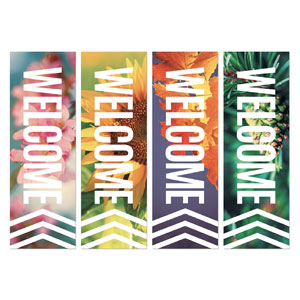 Chevron Welcome Season Set 2' x 6' Banner