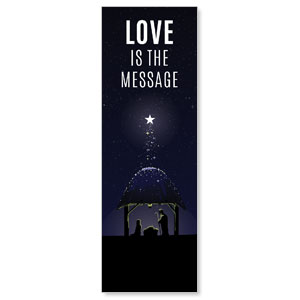 Love Is the Message 2' x 6' Banner