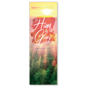 Beautiful Praise Be The Glory 2' x 6' Banner