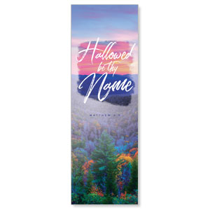 Beautiful Praise Hallowed Name 2' x 6' Banner