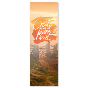 Beautiful Praise Pure Heart 2' x 6' Banner