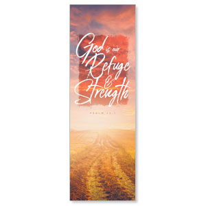 Beautiful Praise Refuge and Strength 2' x 6' Banner