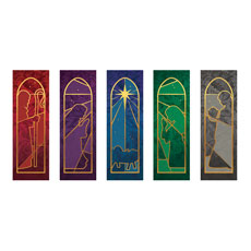 Jewel Tone Nativity Set