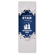 Paper Cut Out Christmas Blue