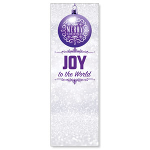 Silver Snow Joy Ornament Banners