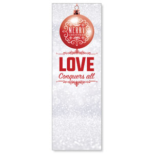 Silver Snow Love Ornament 2' x 6' Banner