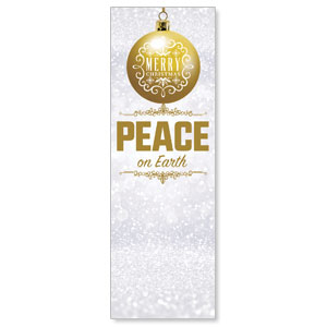 Silver Snow Peace Ornament 2' x 6' Banner
