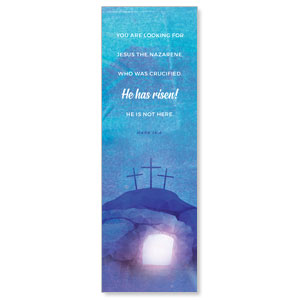 Blue Purple Easter Tomb 2' x 6' Banner