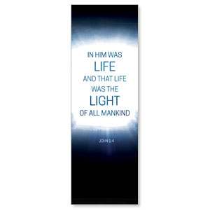 Easter Tomb Light of Mankind 2' x 6' Banner