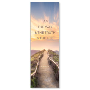 Way Truth Life Path 2' x 6' Banner